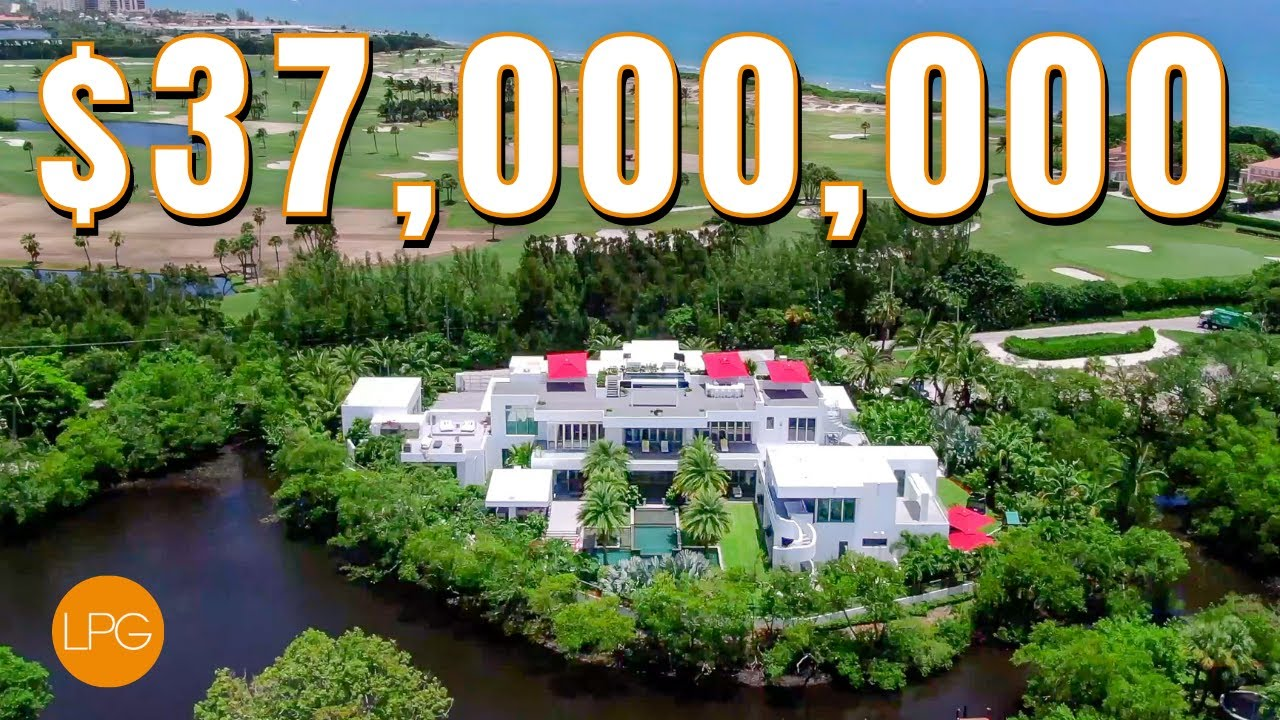 The BIGGEST & MOST EXPENSIVE MEGA MANSION in North Palm Beach, FL