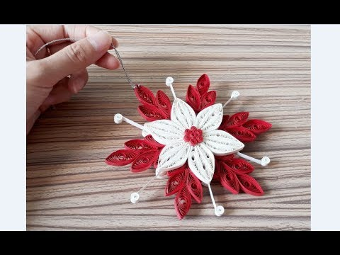DIY Paper Quilling -Christmas Snowflake - Easy & Simple  Christmas design 27