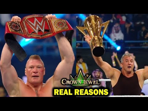 Real Reasons Why Brock Lesnar Won Universal Title & Shane McMahon Won World Cup at WWE Crown Jewel