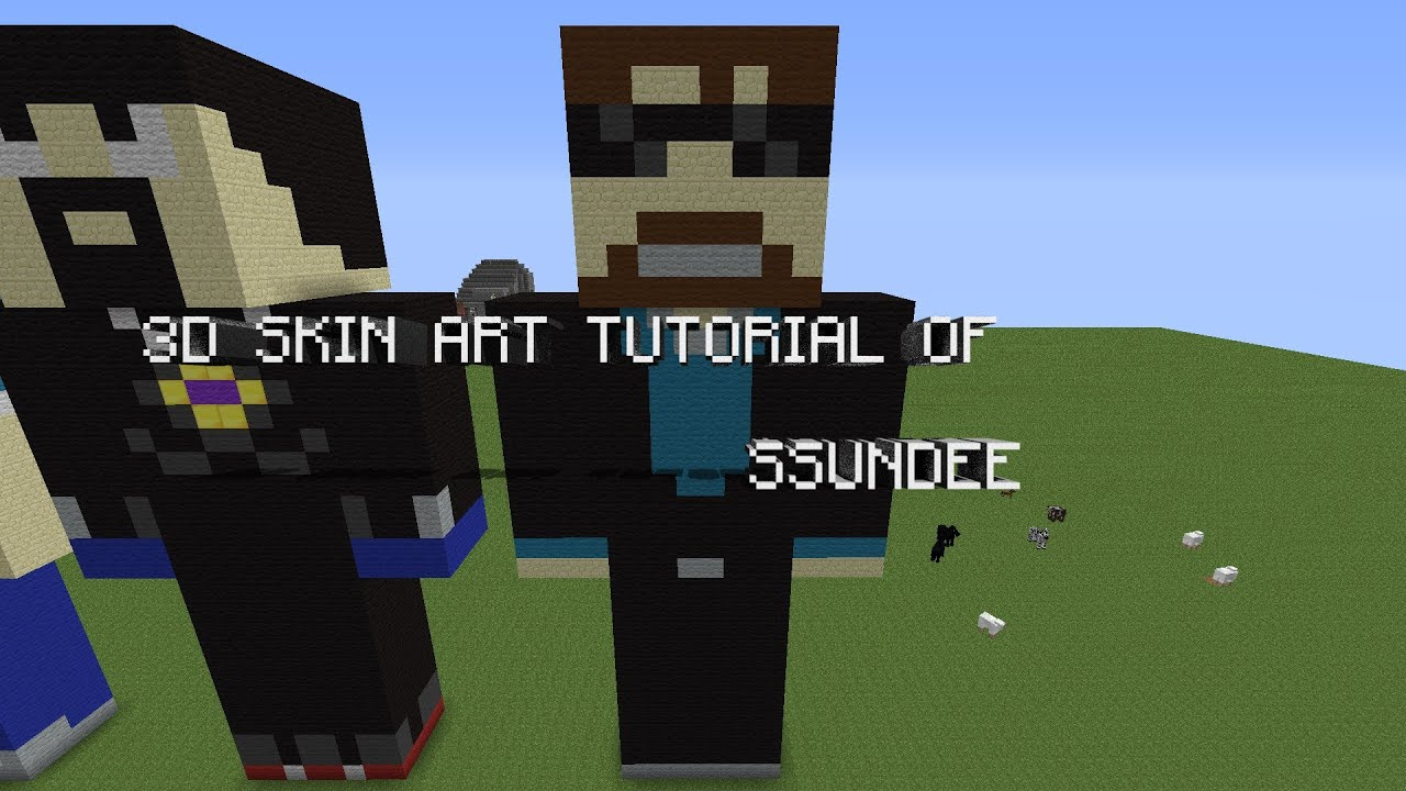 Minecraft 3D Skin Statue Youtuber Tutorial #3 SSundee | PC ...