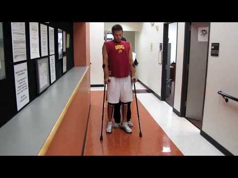 Paraplegic Walking in KFO Braces:  Garett Williamson
