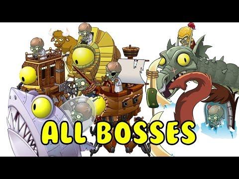 Plants vs Zombies 2 All 10 Boss battles / Растения против Зомби 2 все боссы