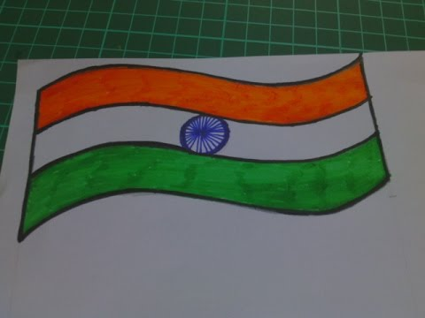 How To Make Republic Day Greeting Card How To Make Indian Flag Flag Of India Youtube