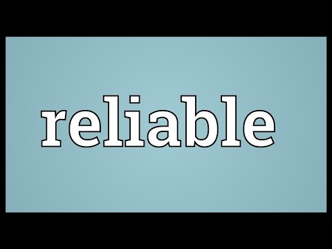 Reliable Meaning