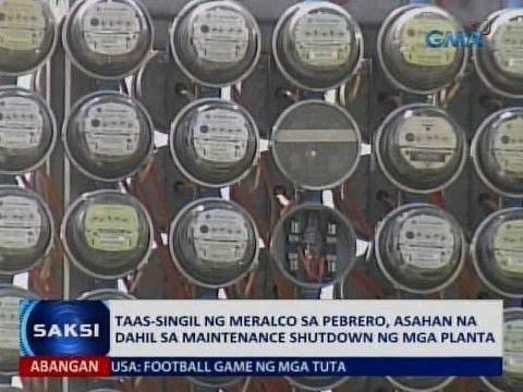 Saksi: Taas-singil ng Meralco sa Pebrero, asahan na dahil sa maintenance shutdown ng mga planta