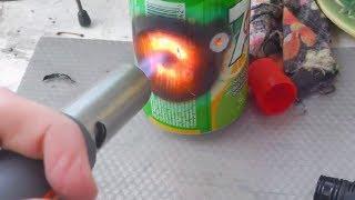 Газовая горелка - резак: обзор, тест(Газовая горелка или лампа (flame thrower или flame gun/gas burner) - полезная штука, пригодится во многих ситуациях. В этом..., 2013-12-09T11:25:34.000Z)