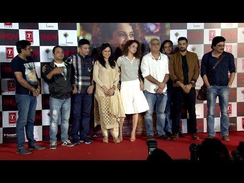 Uncut Kangana Ranaut & Hansal Mehta At Trailer Launch Of Film Simran