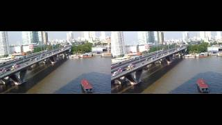 FinePix Real 3D W1 - Bangkok  シャングリラホテルからの昼と夜の眺め