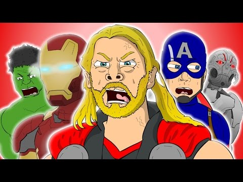 ♪ AVENGERS AGE OF ULTRON THE MUSICAL  Animated Song Parody