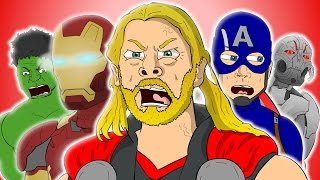 ♪ AVENGERS AGE OF ULTRON THE MUSICAL - Animated Song Parody