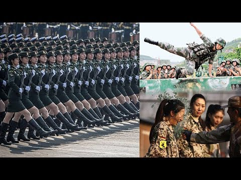 China's Amazing Women Taking Part In Military Drills, Parades And military Exercises
