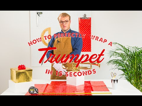 How To Wrap A Trumpet in 15 Seconds