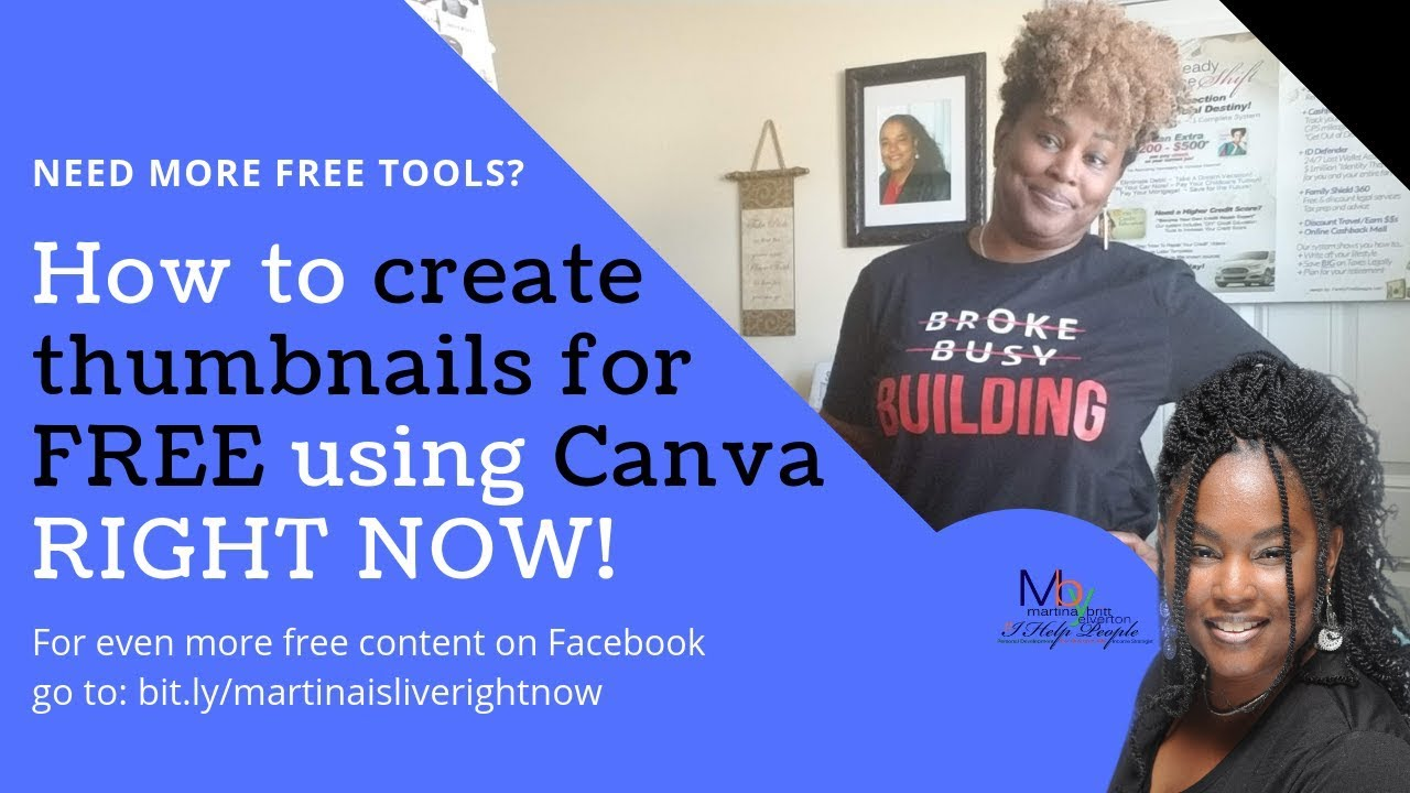How to create thumbnails for FREE using Canva w/ the #BrandMaster