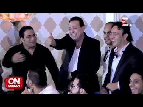 on screen: -تغطية لاحتفالية الفنان حكيم باطلاق أغنيته الجديدة -على وضعك  - 00:20-2017 / 7 / 22
