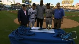 The Dodgers honor Mariano Rivera at Dodger Stadium
