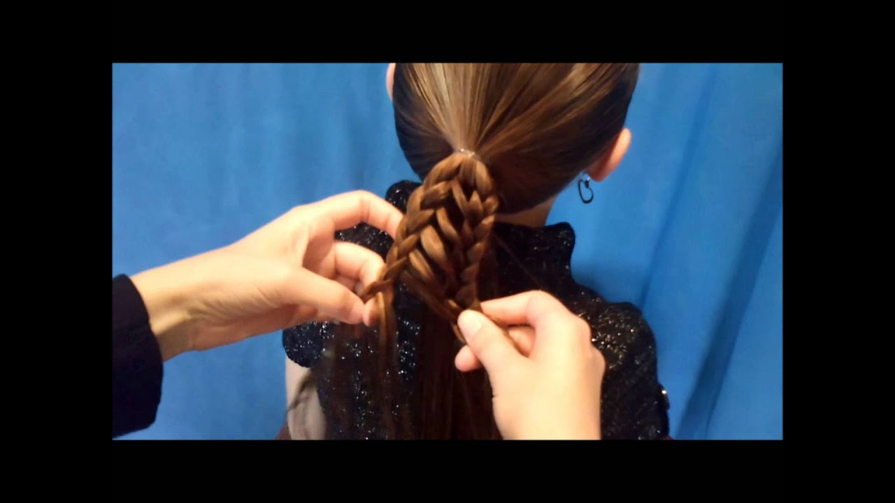 stripe braid ponytail