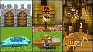50 NEW Minecraft 1.14 Build Hacks, Ideas, and Tips
