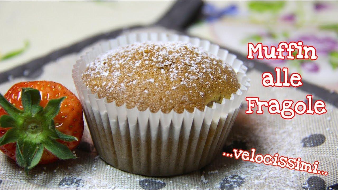 Ricetta Muffin Velocissimi.Muffin Alle Fragole Soffici E Velocissimi Senza Burro
