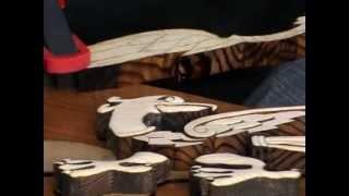 Мастер-класс резьбы по дереву, WOODWORKING INTARSIA. Часть 2(Продолжение мастер-класса резьбы по дереву техникой интарсии (WOODWORKING INTARSIA). Ведет мастер-класс художник..., 2013-07-16T07:20:31.000Z)