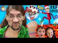POPPING CHRISTMAS ORNAMENTS with ELF on the SHELF BUDDY (FV Family Elf makes FLOOR is LAVA)