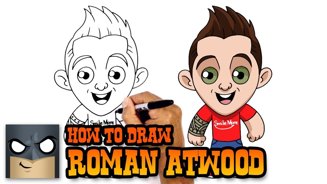 How To Draw Roman Atwood Youtube