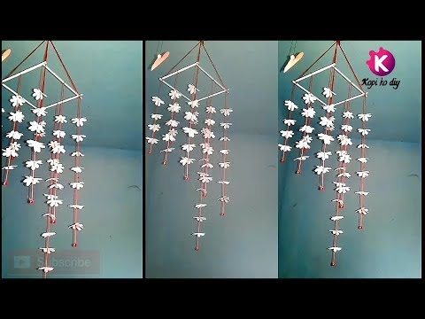 Diy || how to make  wind chime with paper || decor || KOPI KO DIY