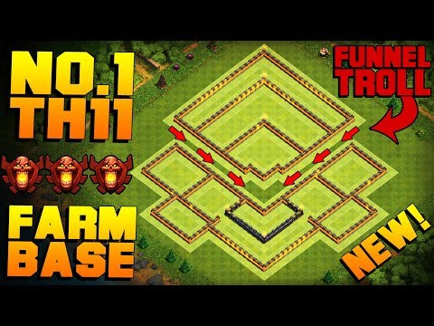 BEST TH11 FARMING BASE + PROOF!! | NEW CoC Town Hall 11 Trophy / Hybrid Base | Clash Of Clans