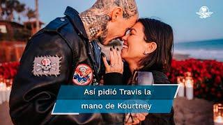 Travis Barker, baterista de Blink-182, preparó una sorpresa en la playa para pedirle matrimonio a la mayor del clan Kardashian