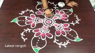 freehand rangoli designs || creative simple designs || easy muggulu