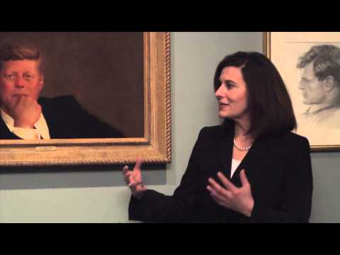 Vicki Kennedy Visits MFA Boston To See Iconic Portrait of JFK