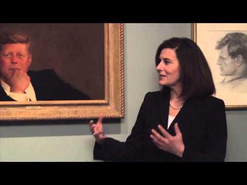 Vicki Kennedy Visits MFA Boston To See Iconic Portrait of JFK