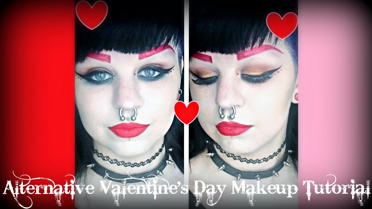 Alternative Valentine S Day Inspired Makeup Tutorial Astrid