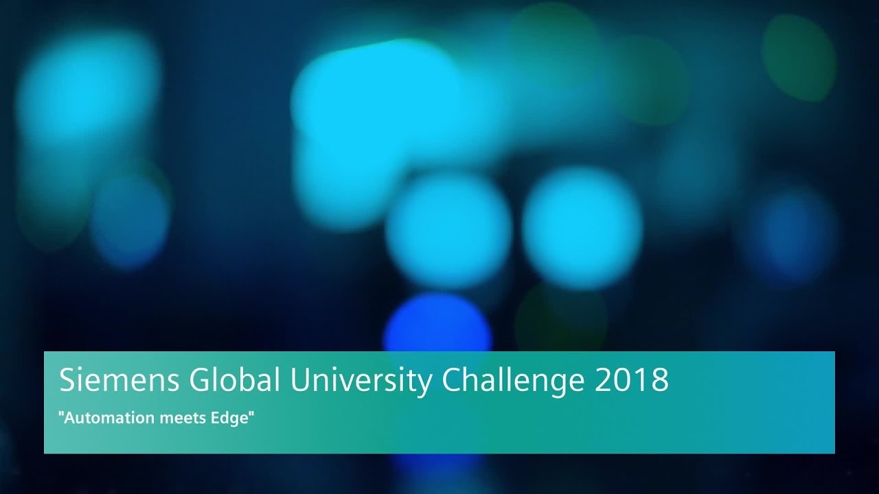 Automation meets Edge - Siemens Global University Challenge
