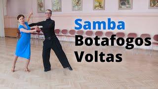 Samba Basic Lesson - Shadow Botafogos, Travelling Voltas, Continuous Volta Spot Turn