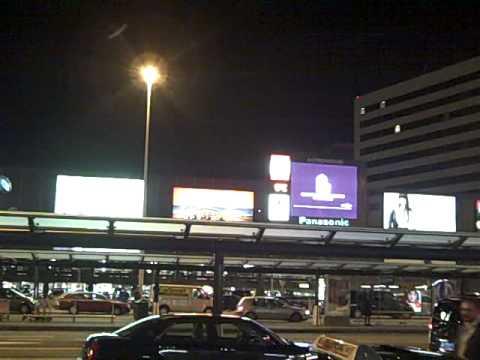Video billboard outside Amsterdam airport