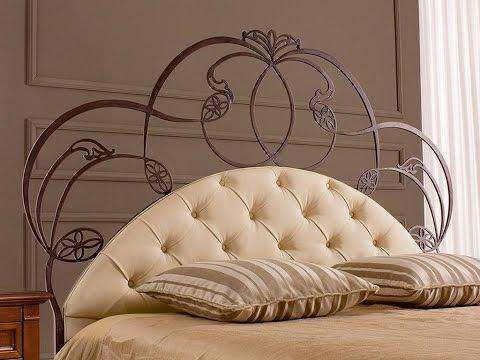 Эффектное кованое изголовье кровати