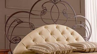 Эффектное кованое изголовье кровати(Кованое изголовье способно мгновенно превратить обычную раскладушку в дизайнерскую мебель, роскошную..., 2014-10-09T16:23:24.000Z)