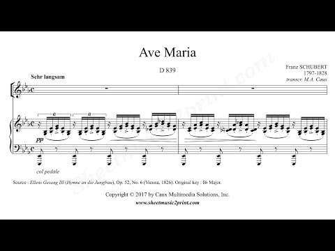 Schubert : Ave Maria - E flat Major
