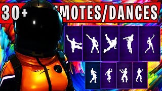 DARK VANGUARD Skin Showcased with 30+ Dance Emotes - Fortnite Battle Royale Season 4