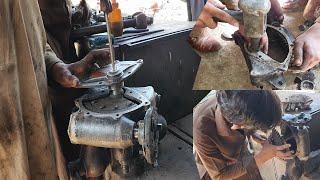 Repairing Truck Power Stęering Gear Box   Bush Replacement   How to Rebuild Power Steering Gear Box