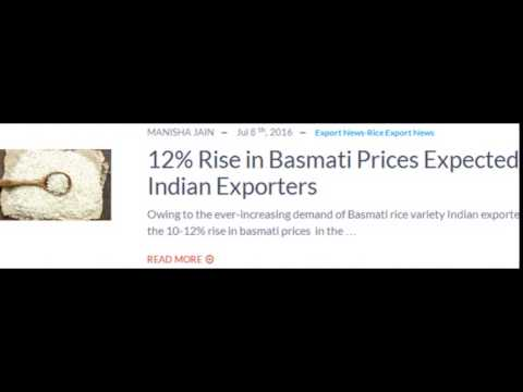 Rice Export news in India