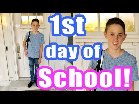 Zade's First Day of School (junior high)