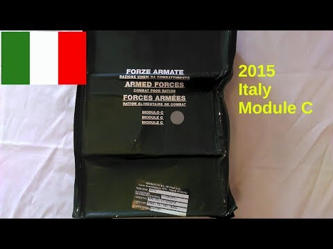 2015 Italy Armed Forces Combat Ration 24 hr | Module C review