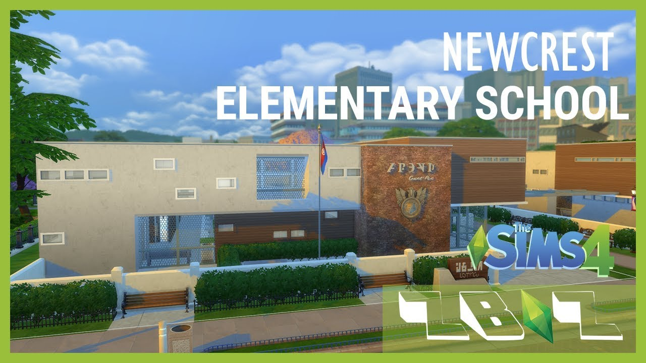 Newcrest ELEMENTARY SCHOOL - Sims 4 Build Showcase (Community lot) +  Download Link