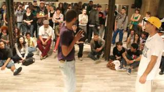 HiphopMeetsSwing 2011 - Pop Fiction (La Smala) Vs Sombel (Toulouse) - Final Popping