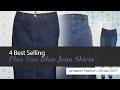4 Best Selling Plus Size Blue Jean Skirts Amazon Fashion, Winter 2017