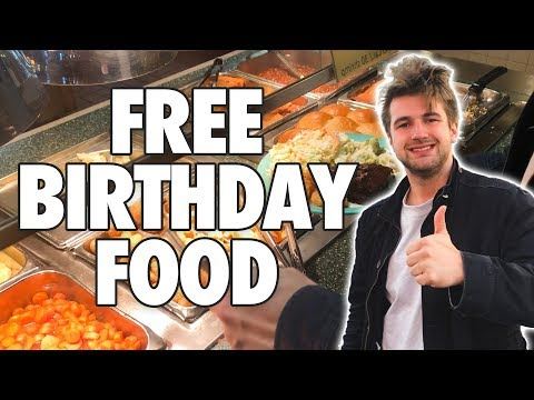 Producer Brent - This Guy Went To Every Place That Gives Free Food For Birthdays