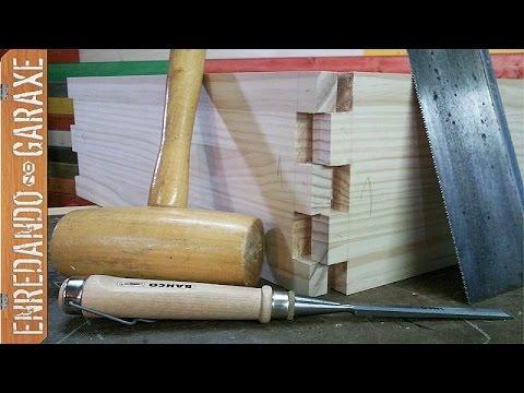 Cortar uniones tipo dedo a mano con sierra y form n youtube for Cortar madera con radial
