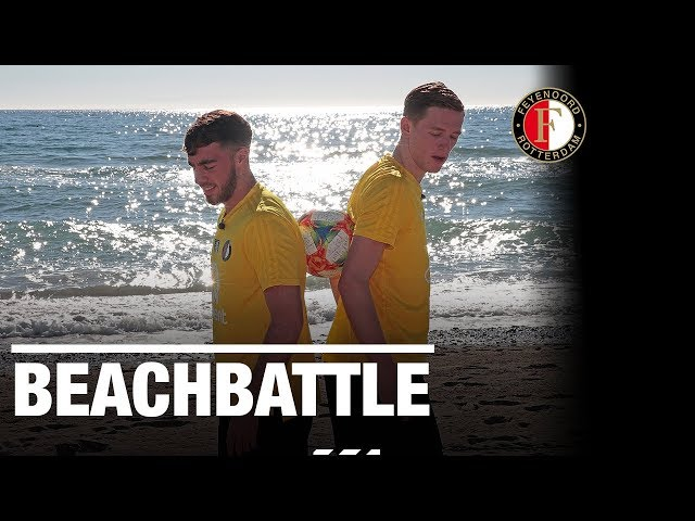 BEACHBATTLE | Kökcü vs. Burger, wie moet de zee in?