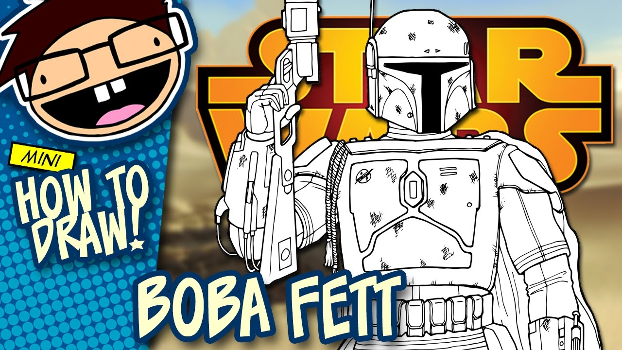 How to Draw BOBA FETT (Star Wars) | Narrated Easy Step-by ...Boba Fett Drawing Tutorial